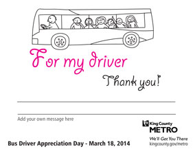 For my driver, thank you.