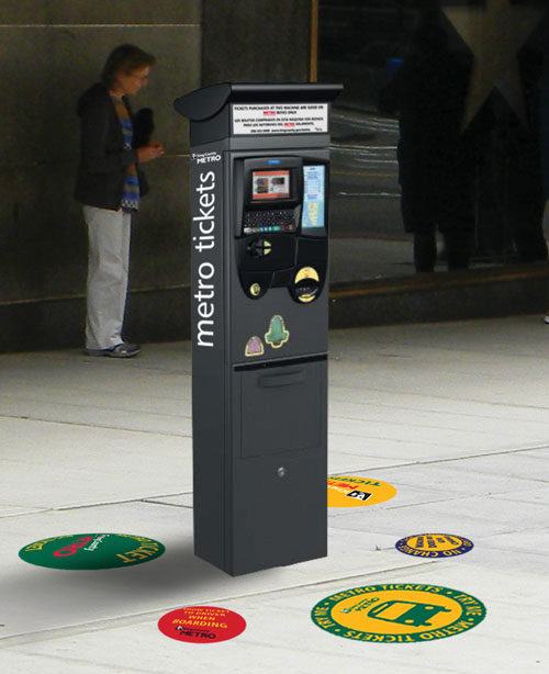 Conceptual photo of the ticket vending machine.