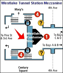 Westlake Customer Stop map
