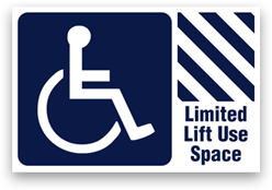 Limited Lift Use Space Sticker