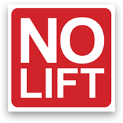 No Lift Sticker