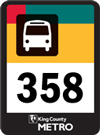 Route 358 bus sign