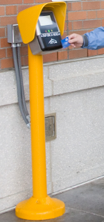 Yellow ORCA card reader