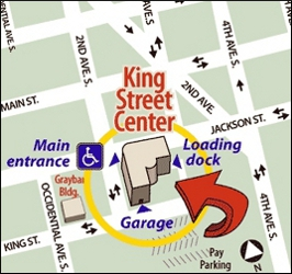 King Street Center map