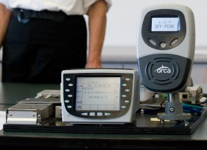 Photo of Fare Transaction Processor (FTP) & Driver Display Unit (DDU).