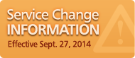 Service Change Information Effective June 7, 2014