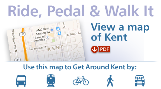 Ride, pedal and Walk It Kent - view a PDF Map