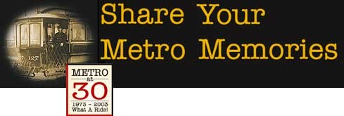 Graphic: Share your Metro Memories