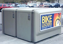 Bike lockers photo