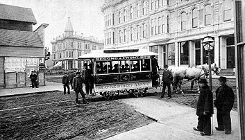 Photo of Seattle's first streetcar, Sept. 20, 1884.