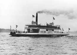 Photo of Ferry Leschi on Lake Washington, 1940s