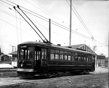 Photo of Municipal streetcar, @1915