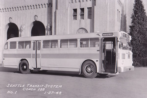 Photo of Seattle Transit Coach 158 - January 1948
