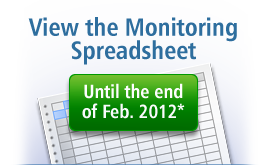 View the Monitoring Spreadsheet until February 29, 2012