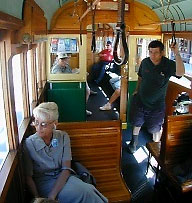 inside the Waterfront Streetcar