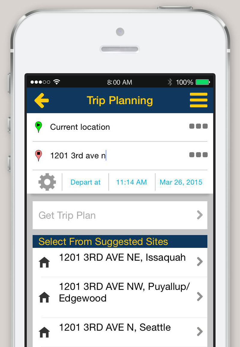 Iphone and android app trip planner king county metro transit entering addresses gumiabroncs Gallery