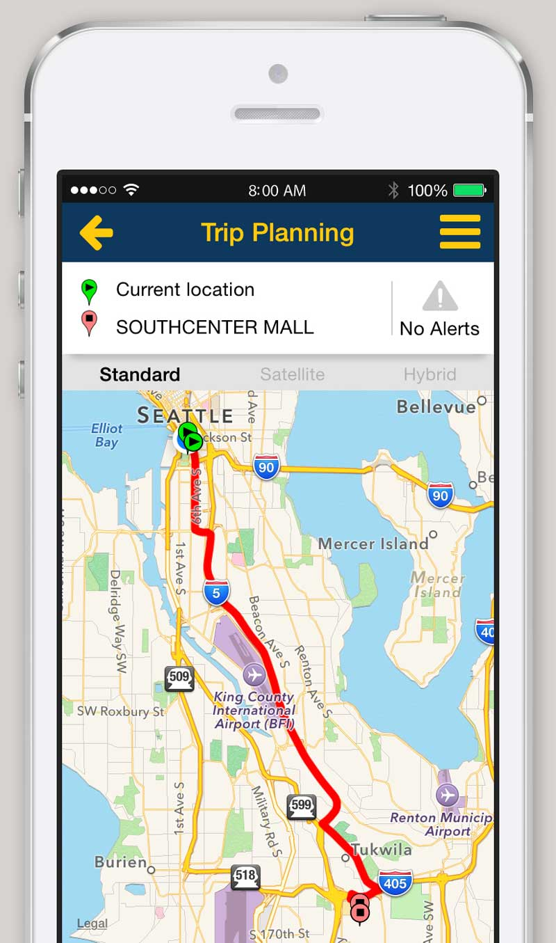 iPhone and Android App Trip Planner King County Metro Transit – World Travel Map Planner