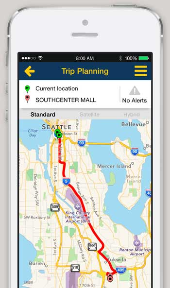 iPhone and Android App - Trip Planner - King County Metro
